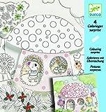 Djeco - Kreativ Set Malvorlagen Thumbalina mit Faltfenstern