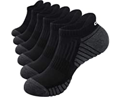 RUIXUE Mens Running Socks, Cushioned Sports Socks Anti-Blister Cotton Trainer Socks for Men Women Ladies Low Cut Breathable A