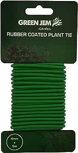 Green Jem Gummi-beschichteter Pflanzenbinder, grün