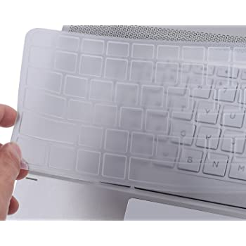 """CaseBuy Soft Silicone Gel Keyboard Protector Skin Cover for HP Spectre x360 2-in-1 13.3"""" Touch-Screen Laptop US Laptop(if your """"enter"""" key looks like """"7"""", our skin can't fit)(Transparent)"""
