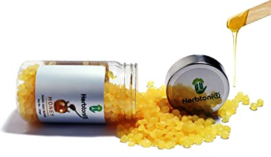 HERBTONIQ Hair Removal Depilatory Hard Wax Beans (120g, H120HQ(Honey))