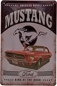 Mehr Relief Schilder Hier Ford Mustang 1967 Retro Werbung Hochwertig Geprägtes Us Style Auto Blechschild Im Format 30 X 20 Cm Küche Haushalt