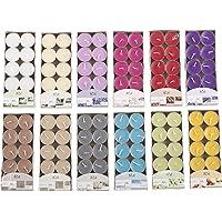Invero® Lot de 120 Bougies chauffe-plats parfumées de plusieurs couleurs - idéales pour les salles de séjour, couloirs…