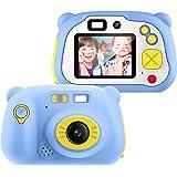 Appareil Photo pour Enfant, avec Carte TF 16 Go, Caméra Selfie Rechargeable Numérique pour Enfants, Ecran à 2 Pouces,Objectif