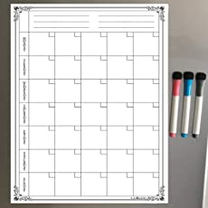 Lifekrafts Magnetic Monthly Planner Sheet with 3 Pens
