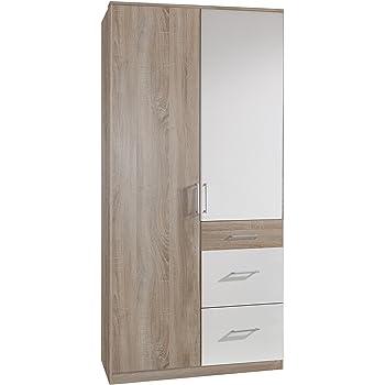 Wimex Kleiderschrank/ Drehtürenschrank Click, 2 Türen, 2 große, 1 ...