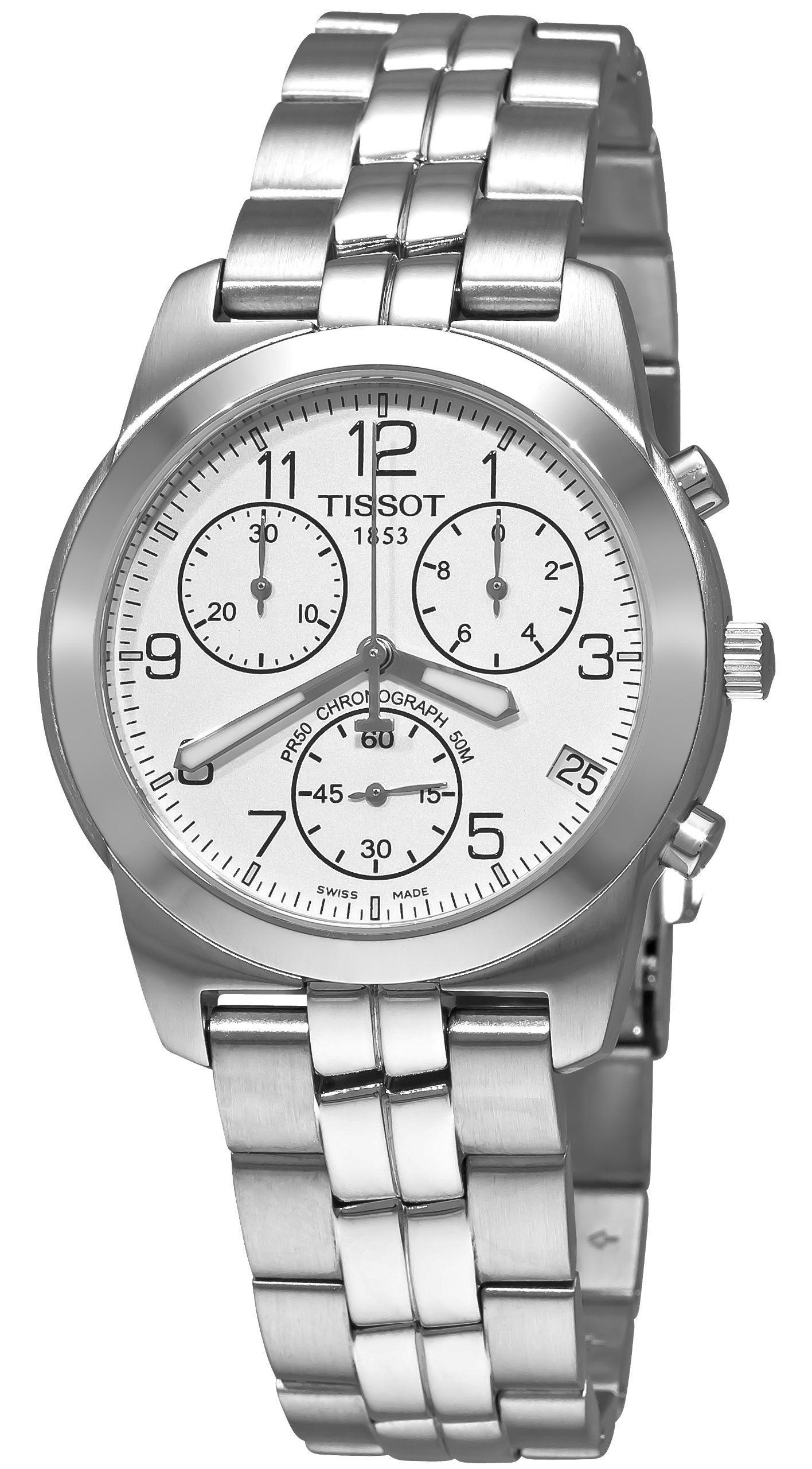 Tissot PR50 T34148832 – Reloj de caballero automático, correa de acero inoxidable color gris