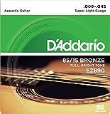 D'Addario 85/15 Bronze Acoustic Guitar Strings_{.009-.045_FULL BRIGHT TONE}_Stainless Steel Material