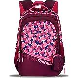 Lavie Sport Blush 40 Ltrs Stylish Backpack   School College bag for girls (Pastel Pink)