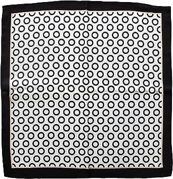 tessago foulard da collo di pura seta misura cm 53 x 53 disegno optical bianco e nero.