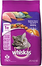 Whiskas Dry Cat Food, Mackerel for Adult cats, 1.2 kg