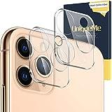 [2-pack] UniqueMe kameralinsskydd för iPhone 11 Pro Max/iPhone 11 Pro 9H hårdhet härdat glas, [HD klarhet] anti-fingeravtryck