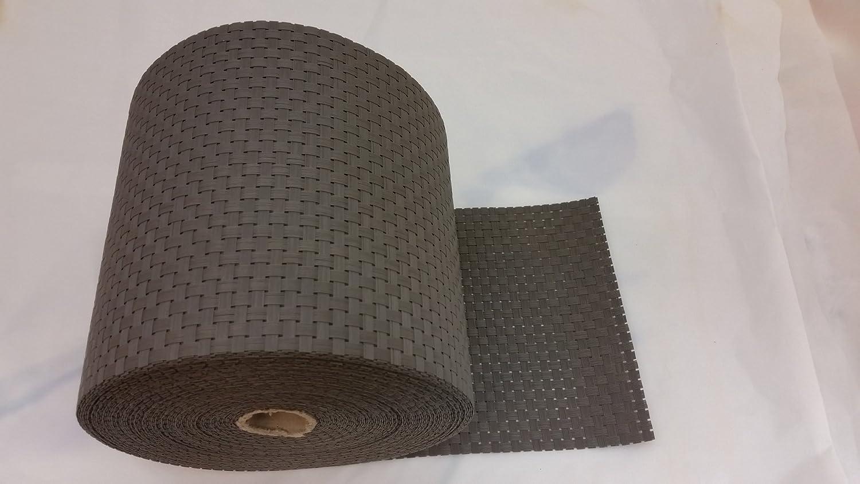 Grau 30m Smart Deko Polyrattan Sichtschutzstreifen