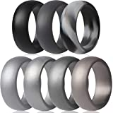 ThunderFit Silicone Wedding Ring for Men - 8.7mm Wide - 2.5mm Thick