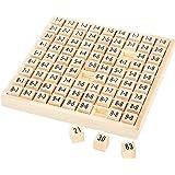 7583 Impara le tabelline small foot in legno, imparare l'aritmetica in modo ludico, da 7 anni in poi