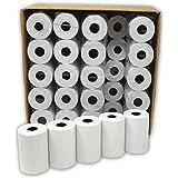 Lot de 50 - Bobine carte bancaire thermique 57 x 40 x 12 m -papier thermique pour CB 57 x 40 x 12 mm - Rouleaux machine carte