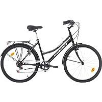 "Vélo De Ville 26"" Femme SPR Urban - 6 Vitesses avec Poignée Tournante + Porte-Bagage"