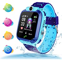 TLLAYGM Bambini Smartwatch. Kids Smart Watch Phone per Bambini IP67 Impermeabile GPS/LBS Android SOS Touch Screen Anti-Lost watch, Ragazzi e ragazze di Smart watch Kids Regalo (Blu)
