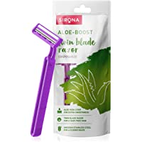 Sirona Disposable Hair Removal Razor for Women with Aloe Boost for Arms, Legs and Bikini Line - 2 Blade Shaving Razor…