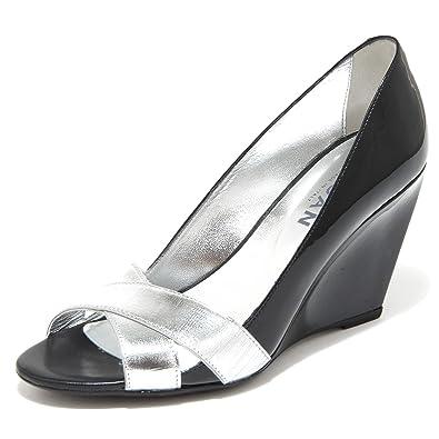 85763 decollete spuntato zeppa HOGAN H 227 FASCE INCROCIATE scarpa donna shoes w