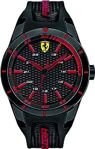 Scuderia Ferrari Mens Quartz Watch, Analogue Classic Display and Silicone Strap 0830245