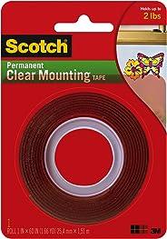 Scotch 4010 Çift Taraflı Şeffaf Bant, 25.4 mm x 1.5 m