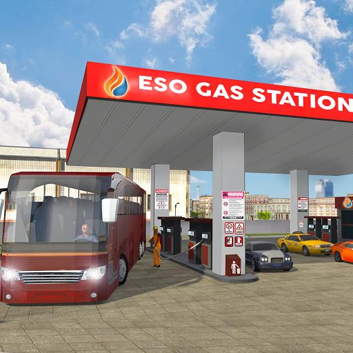 Klug Bus Waschen Bedienung 2019: Tankstelle Parkplatz & Fahren Simulator Spiele Kostenlos für Kinder