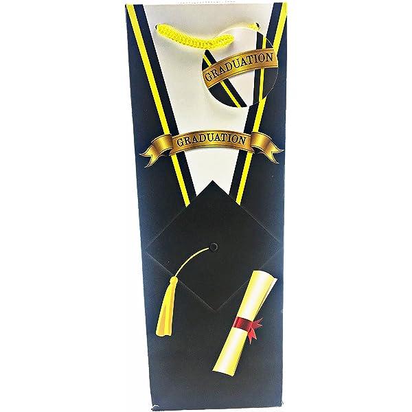 Medium University Graduation Gift Bag Holder Present Wrap Hat Scroll For Him Her