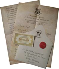 Mc Sid Razz Hogwarts Acceptance Letter   Officially licenced by Warner Bros. USA (brown)