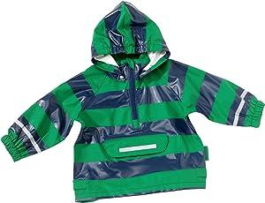Playshoes Unisex-Kinder Regenmantel Regen-Poncho Streifen