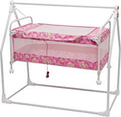 New Born Baby Swing Cradle With Mosquito Net and Canopy Best Baby Cribe For Your Baby Boy , Girl Recommended for 0 to 18 months (Pink) baby cradle, baby cradle swing, baby cradle with mosquito net, baby cradle spring, baby net cradle swing, cribs and cradles, baby swinger, baby swing, baby swing bed, baby sleeping swing, new born baby cradle, kids cradle, newborn baby cradle, newborn baby bassinets