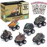 joylink Coches Dinosaurios, 6PCS Pull Back Coches de Juguete de Dinosaurios Realistas Dino Cars Toys Cumpleaños para Niños Ju