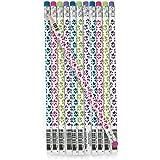 Bunte Pfoten Bleistifte mit Radiergummi 12 Stück Mitgebsel Kindergeburtstag Partytüten mit Palandi® Sticker