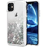 WORLDMOM Phone Case for iPhone 11, Bling Flowing Liquid Floating Glitter Waterfall TPU Double Layer Design Protective Phone C