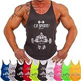 C.P. Sports con Bodybuilder, Uomo Bodybuilding Canotta Senza