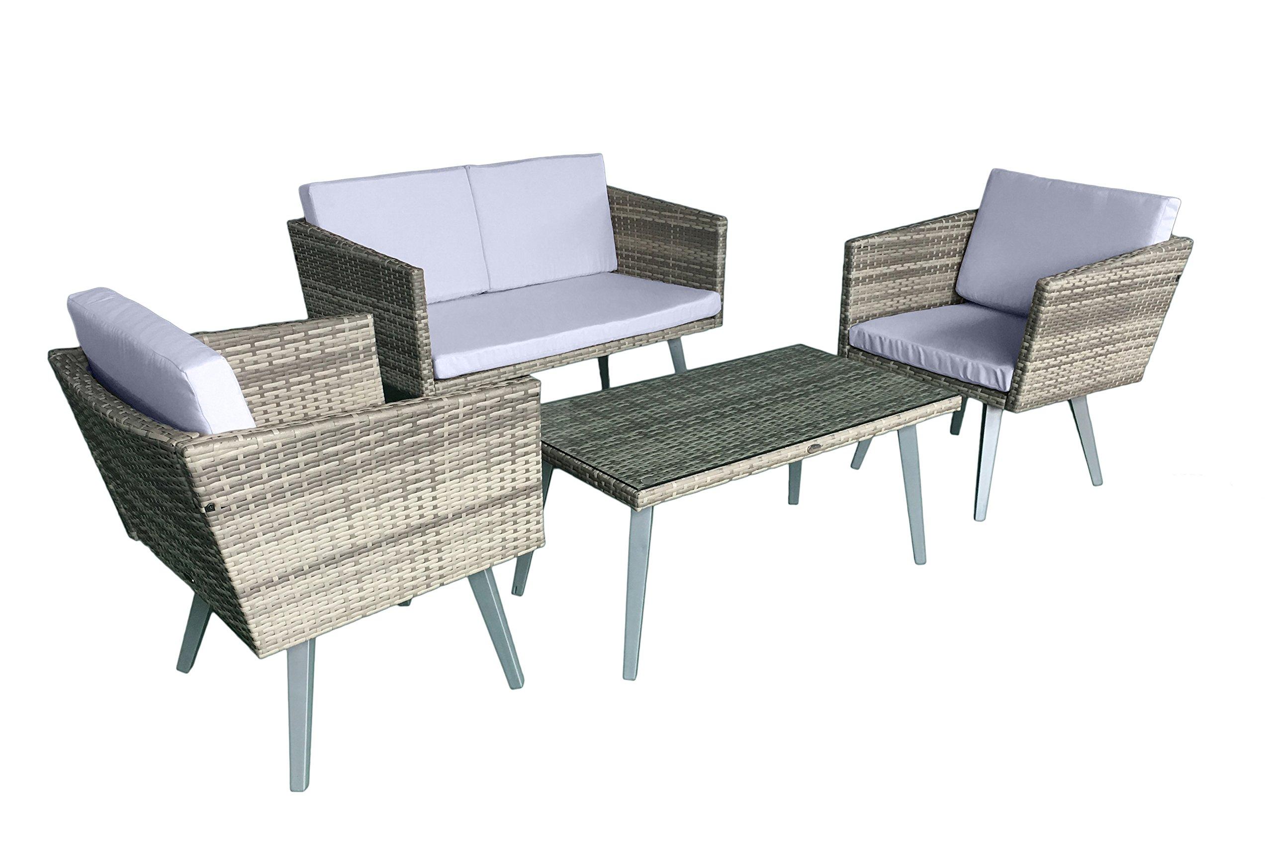 Jet Line Gartenset Cassis Gelb Grau Beige Meliert Lounge Garten Set