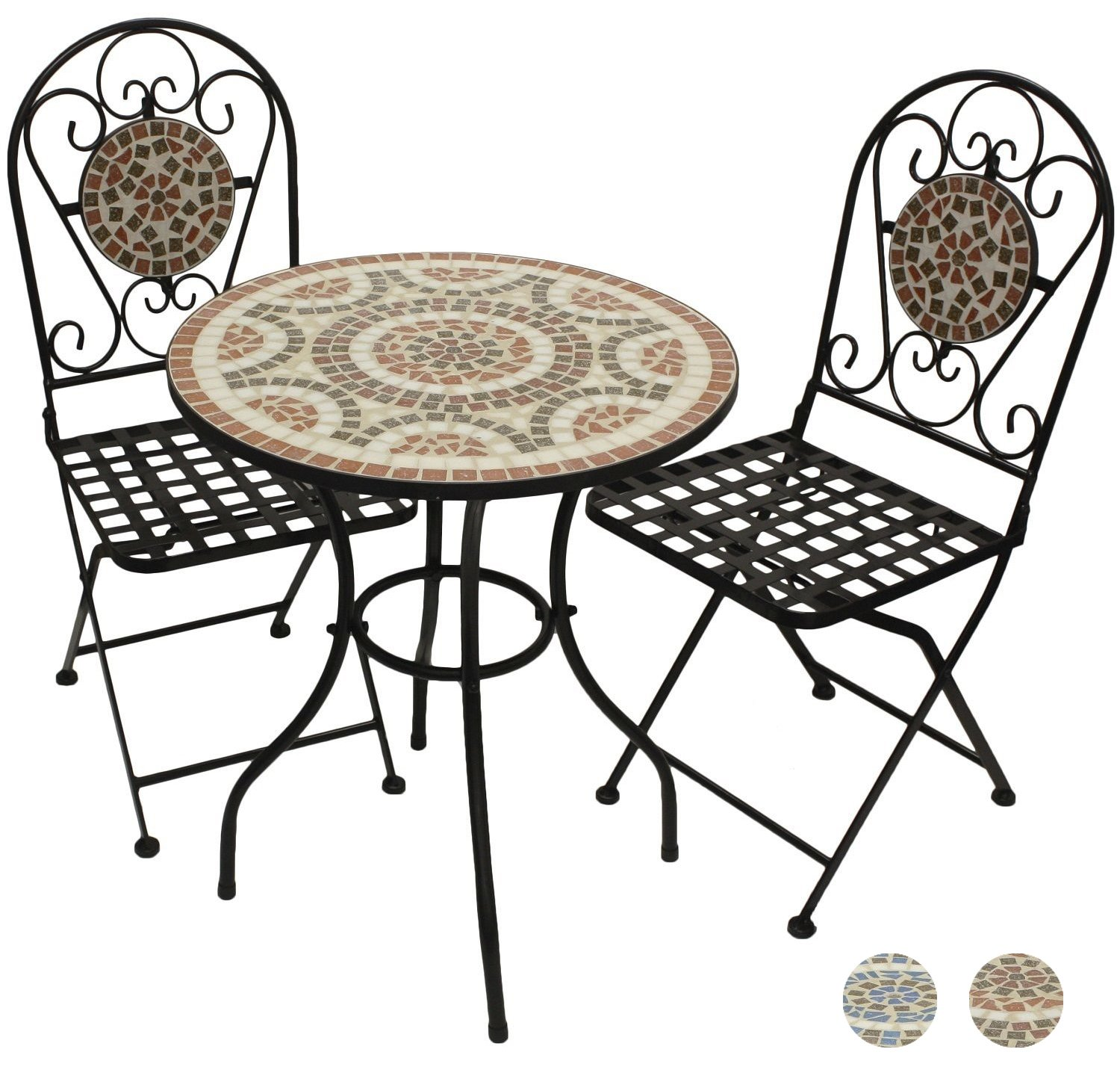 Woodside Blue Mosaic Garden Table And Folding Chair Set Outdoor Dining  Furniture: Amazon.co.uk: Garden U0026 Outdoors Part 56