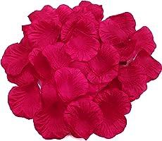 ١٠٠٠ بتلة ورد ملونة من الحرير الصناعي لون أحمر خمري
