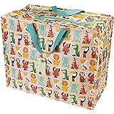 dotcomgiftshop Riesen-Aufbewahrungsbeutel/-tüten mit Tiermotiven, plastik, colourful creatures, Jumbo