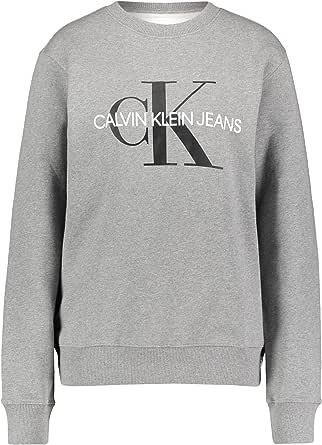 Calvin Klein - Men's Iconic Monogram Crew Neck Sweatshirt - Sweatshirt Men - Black Sweatshirt Mens - CK Tops Men - Grey Heather - Size XXL