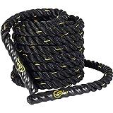 Display4top 9 m/12 m/15 m Battle rope, styrketräning, kondition, styrka, explosivitet och rörlighet, fitnessträning. 38mm * 1