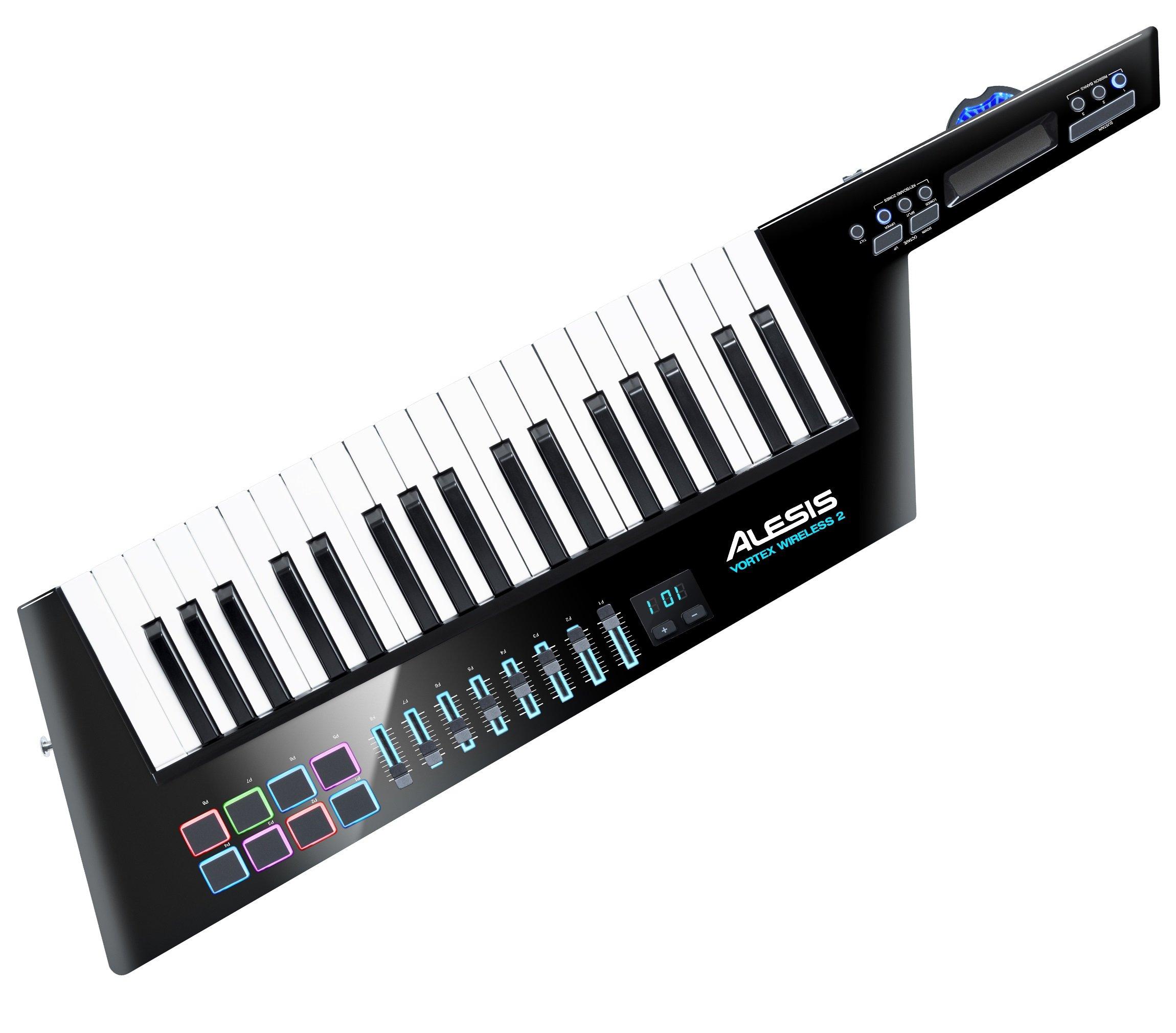 Alesis Vortex Wireless 2 | Keytar Clavier Maître USB / MIDI avec Suite de Logiciels Incluse