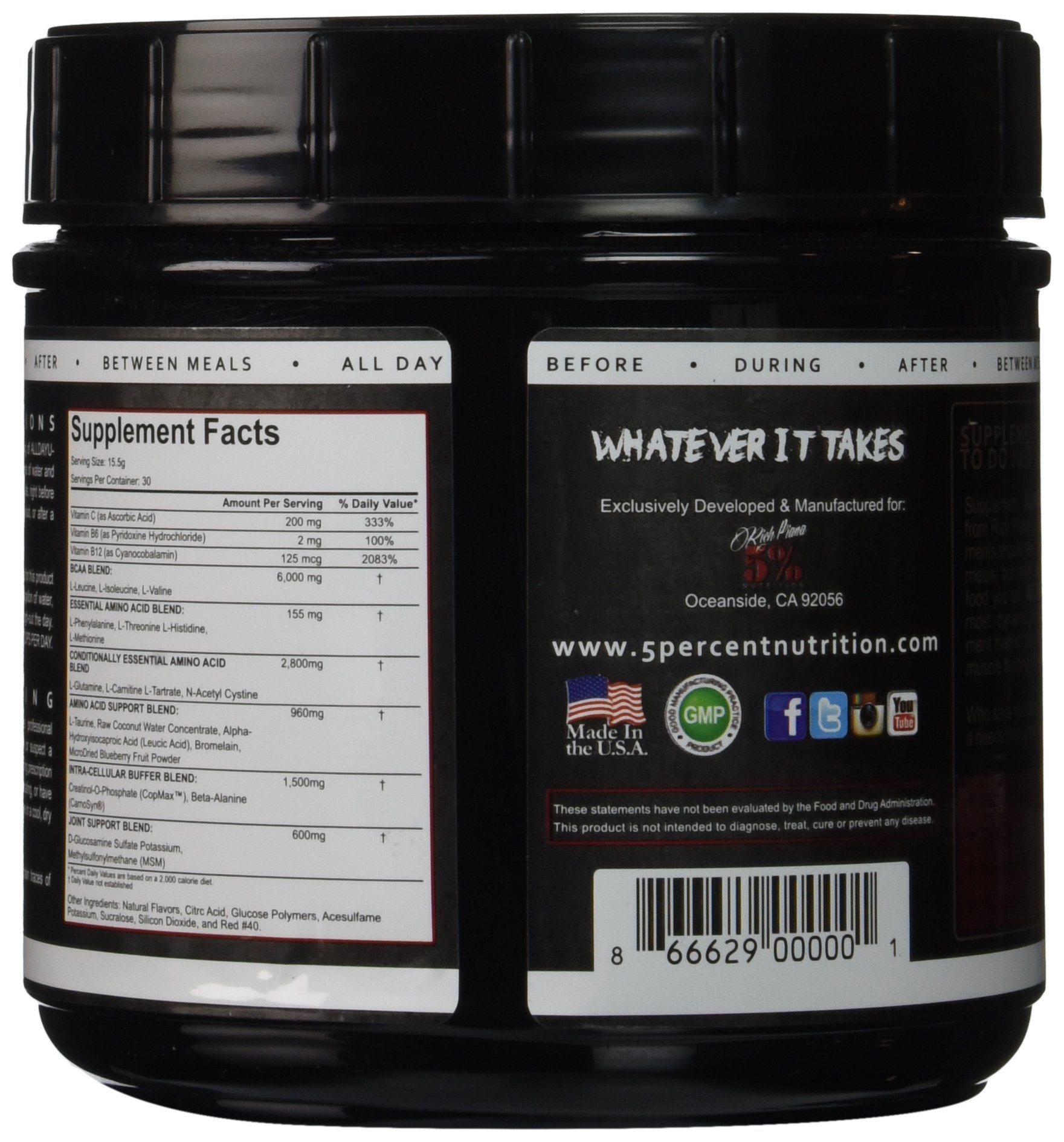 81WaOvfGFgL - 5% Nutrition - Rich Piana All Day You May, Fruit Punch, PER1001/462/101