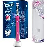 Oral-B Pro 2 2500 Design Edition Spazzolino Elettrico Ricaricabile, 2 Modalità di Spazzolamento, Custodia da Viaggio, Rosa, I