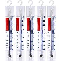 Lantelme 5 thermomètres analogiques pour réfrigérateur, congélateur, glacière - avec Crochets - +/- 40°C 3293