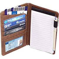 Storite PU Leather Cover Notebook Diary Journal Travel Notepad 30 Pages Brown 17.5 x 11.75 cm
