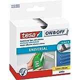 tesa On & Off Klittenband Universal - Plakbare klittenbandtape - Dubbelzijdig om lichte voorwerpen te bevestigen, zonder bore
