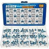 BOJACK 15 waarden 150 stuks 100 Ohm - 2 M Ohm Variabele weerstand 6 mm Potentiometer Assortiment Kit verpakking in een doorzi