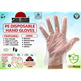 Shalimar Disposable Hand Gloves ( Pack of - 1 / 200 Pieces ) ( Natural Colour ) - Free Size