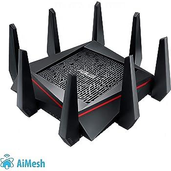 Asus RT-AC5300 Routeur Gaming Wi-Fi  Aimesh / AC 5300 Mbps Triple Bande MU-MIMO avec sécurité AiProtection à vie par TrendMicro, garantie 3 ans